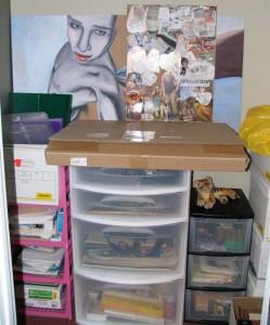 Art Supplies in Closet