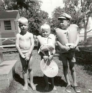 Kids at cabin