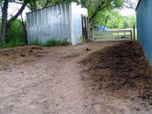 Manure cleanup