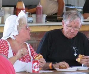 eating at fair