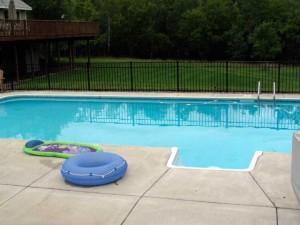 pool after rain