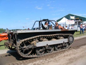 tractor that looks like tank