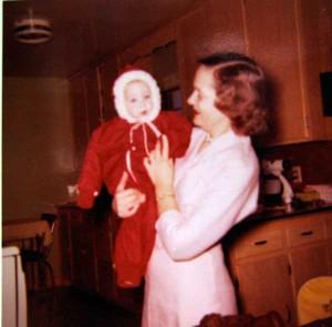 Mom holding me