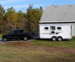 truck and horse trailer