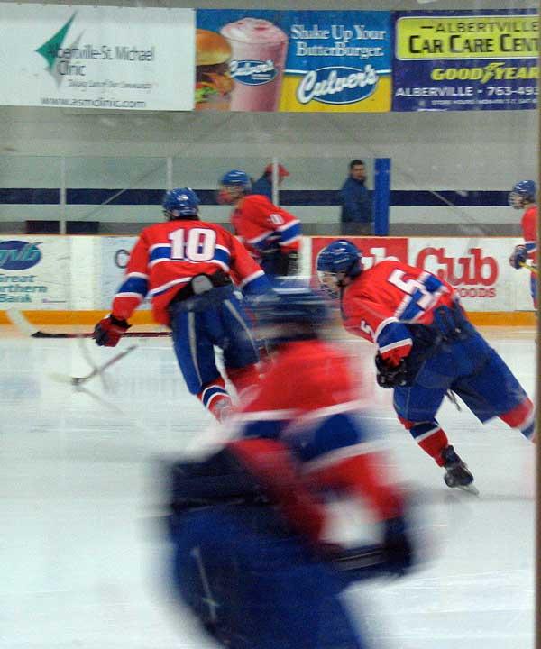 Maery at a Hockey Game?