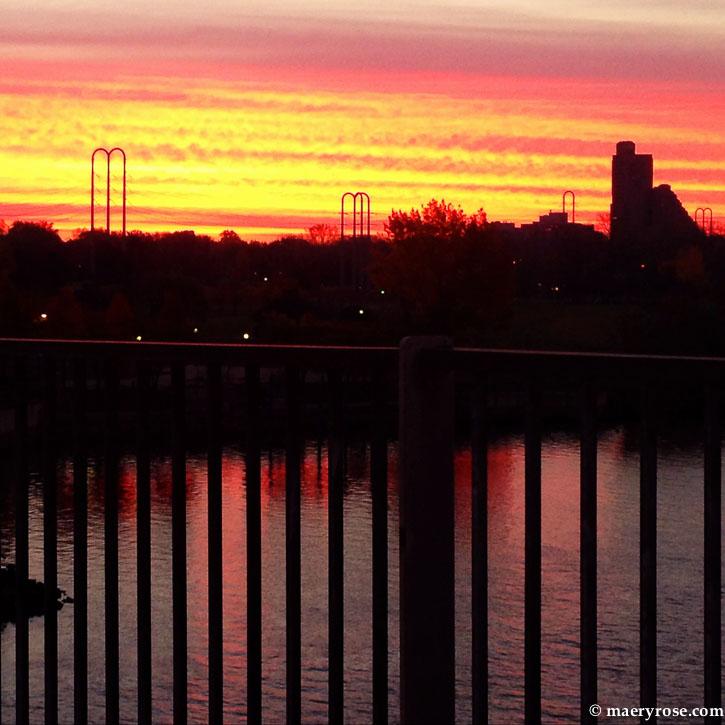 Sunrise from Plymouth bridge