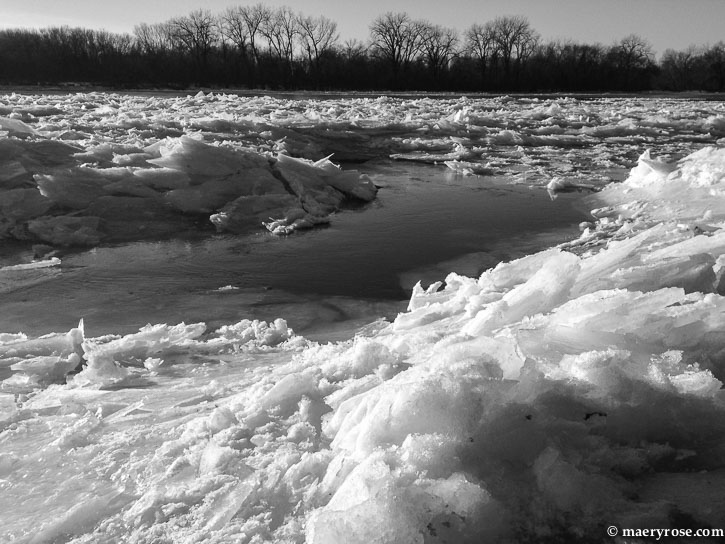Mississippi River Ice Jam