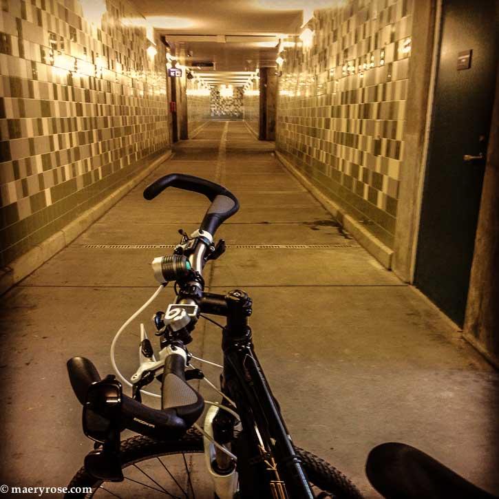 bike at train station