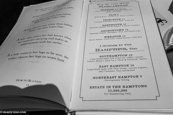Betty Danger's Country Club menu