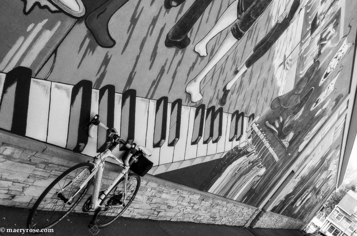 bicycle and mural