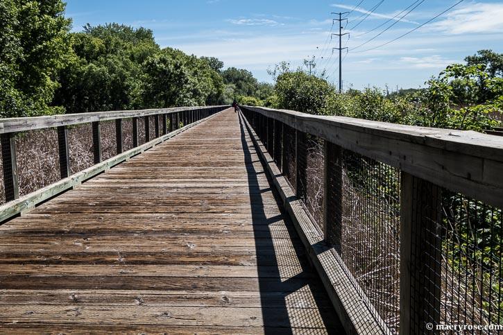 bicycle bridge through marsh