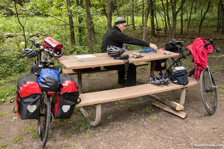 packing up bikes at Carver Park