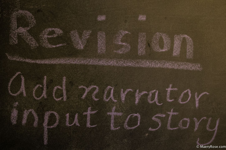 Revision intention on chalkboard