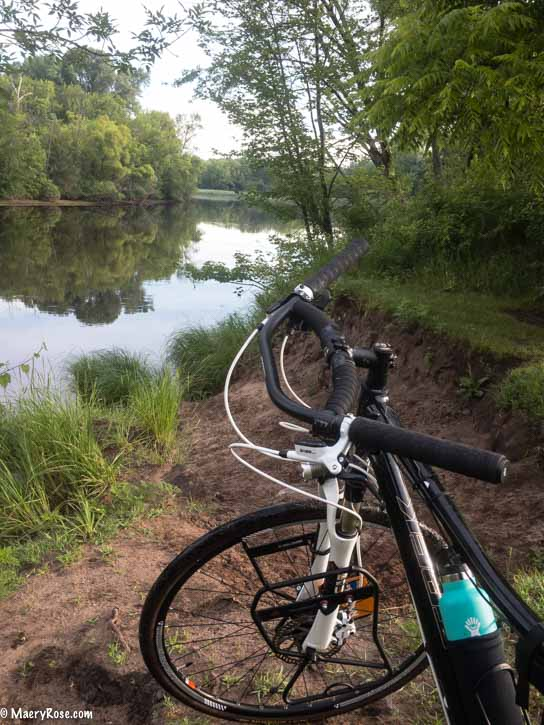 biking along the Rum River