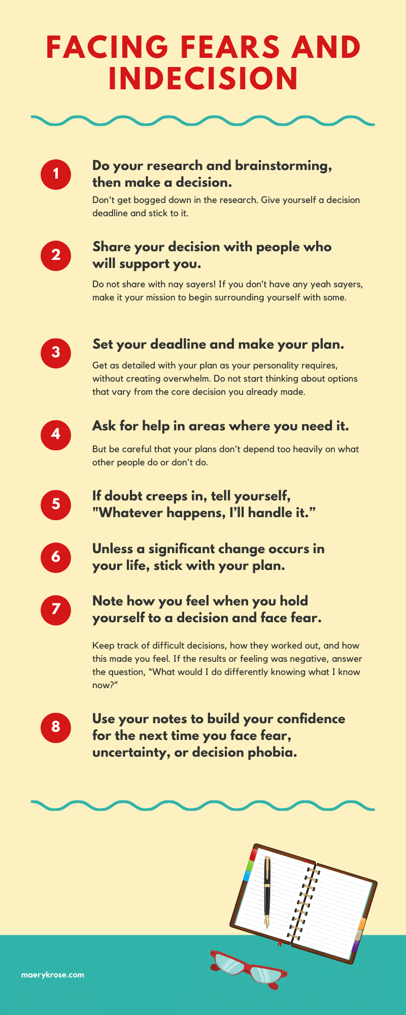Facing Fear and Indecision Infographic